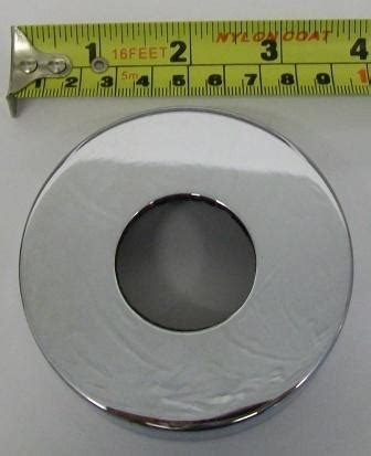 chrome plated mm basin pipe wall flange plumbers mate