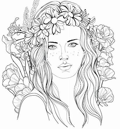 Coloring Hair Pages Brush Printable Braided Hairstyle