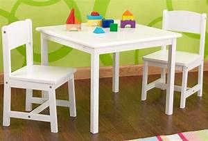 Table Et Chaise Pour Bébé : petite table en bois blanche pour enfant et 2 chaises kidkraft ~ Farleysfitness.com Idées de Décoration