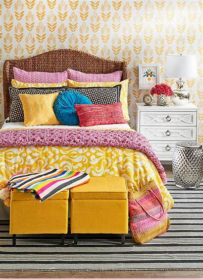 Bedroom Yellow Bright Accents Neutral Colored Aesthetic
