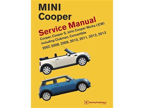 mini cooper instructions mini cooper manual repair service gen2 2007 2013