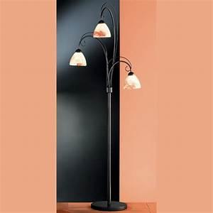 Lampe Mit Mehreren Lampenschirmen : stehlampe mit rauchigem glas ~ Markanthonyermac.com Haus und Dekorationen