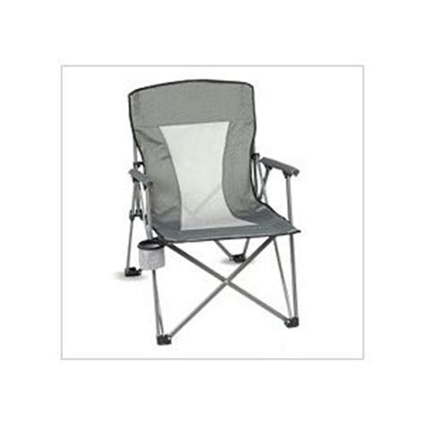 oversized arm chair with mesh back and carry bag holds 300