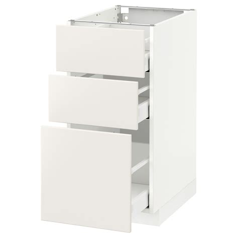 meuble colonne cuisine ikea great metod maximera lment bas tiroirs blanc veddinge