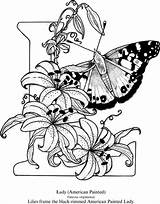 Coloring Adult Dover Welcome Butterfly Publications Alphabet Adults Alfabet Afkomstig Kleurplaten Colouring sketch template