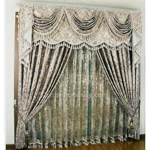 Green And Silver Curtains by Luxury European Style Floral Patterns Silver Shabby Chic