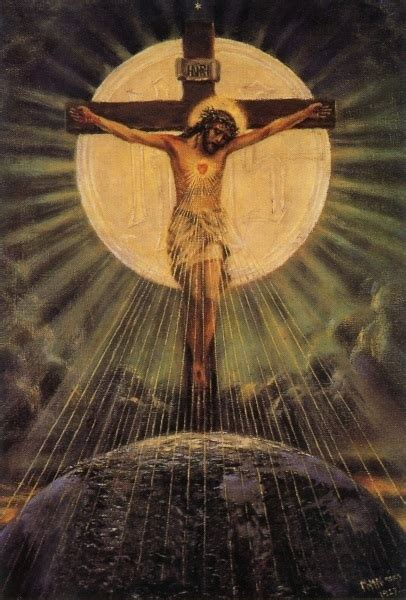 heiligenbild jesus  kreuz postkartenformat