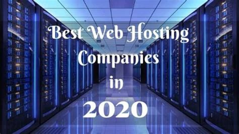 Can this or that service provide all the. 10 Best Web Hosting Companies You Should Know About In 2020