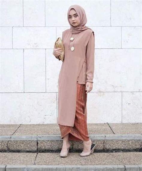 gaun duyung model kebaya wisuda modern simple busana muslim