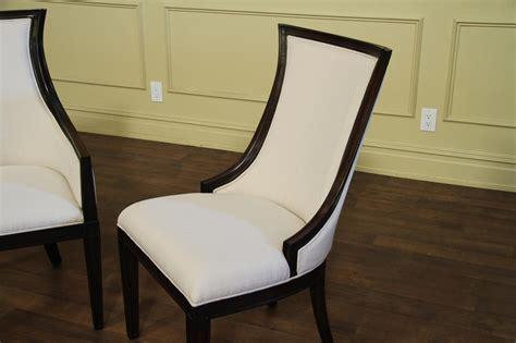 Ebonized Transitional Upholstered Back Dining Chairs