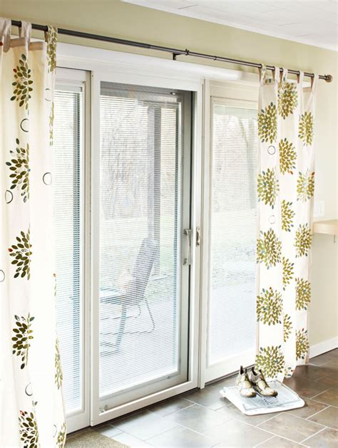 sliding door curtain ideas sted flower curtains