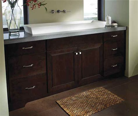 bathroom  chocolate maple cabinets kemper cabinets