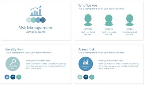 powerpoint change template for entire presentation risk management powerpoint template presentationdeck