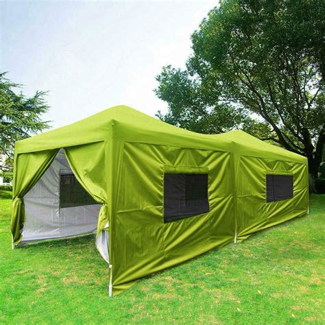 quictent  feet green screen curtain ez pop  canopy party tent gazebo ebay
