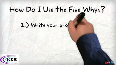 How Do I Use The 5 Whys Root Cause Analysis?  K&s Quality Associates, Llc Youtube