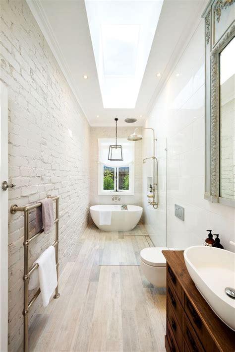 image result  skinny master bathroom layout long