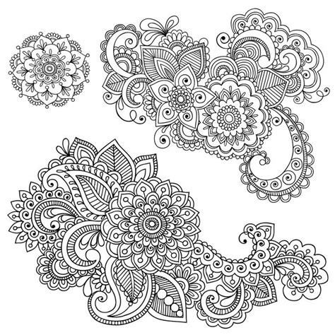 henna coloring pages printable free coloring page for