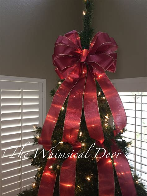 tree bow christmas tree bow tree topper bow whimsical bow tree