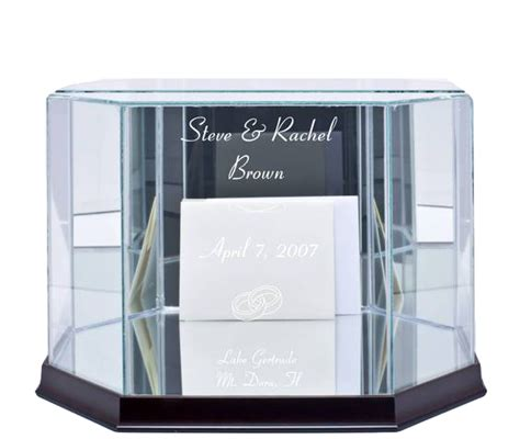 glass wedding card boxes octagon rectangle  sizes