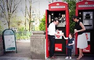 Iconic Red Telephone Box Turned Into Compact Coffee Shop And Ice Cream Unit Outside Lambeth