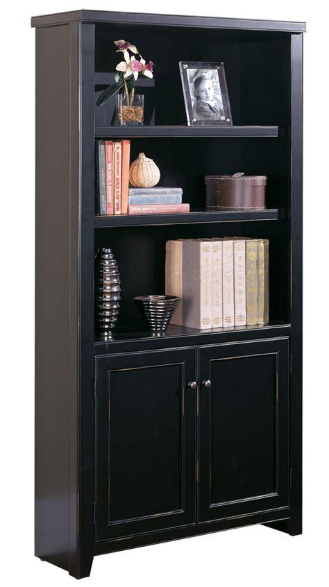 "Black Wood Veneer Bookcases  48""h Bookcase"