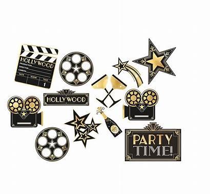Hollywood Movie Night Amscan Glitz Cutouts Glam