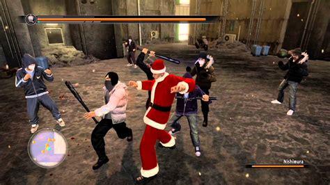 yakuza  saejima saves christmas youtube