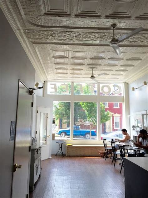 This small yet airy cafe near bloomfield is all about espresso, drip coffees and lattes, all paired with locally made baked goods. Constellation Coffee, Pittsburgh, PA | Home decor, Room, Common room