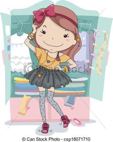 vector clip art  dress  closet illustration