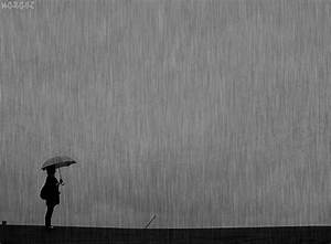 Black and White anime alone rain k-a-p-a-h-a-l-a •