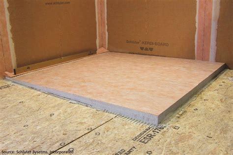 schluter kerdi schluter systems kerdi shower tray ls 55 quot x55 quot for linear wall drain