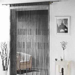 Rideau Fil Noir : rideau fils largeur 90 cm spaghetti noir rideau de porte eminza ~ Teatrodelosmanantiales.com Idées de Décoration