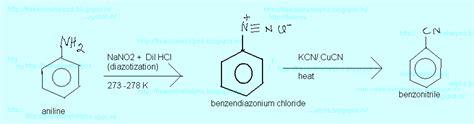 Free Online Help: aniline to benzene , aniline to bromo benzene ,aniline to chloro benzene