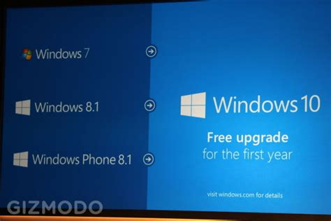 windows 10 will be a free upgrade for windows 7 and 8 1 users tech