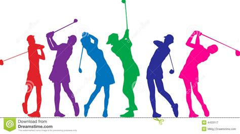 Golf Girls Stock Vector. Illustration Of Lifestyle, Games