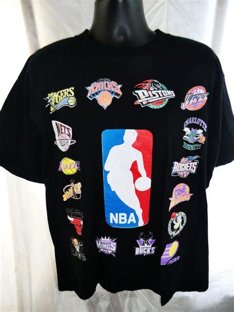 nba basketball  shirt team logos size large