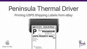 Printing ebay shipping labels for usps with a thermal for How to send a shipping label
