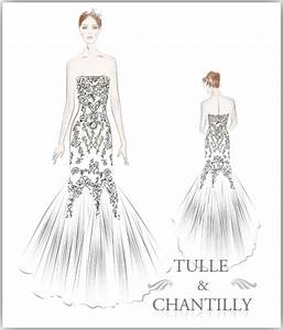 dress sketches | Tulle & Chantilly Wedding Blog