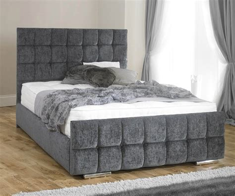 lazzaro chenille fabric bed frame