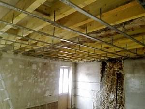 Pose De Faux Plafond : 12 1 pose du plafond ch2 le blog de e f ~ Premium-room.com Idées de Décoration