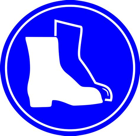 Boat Safety Clipart by Boots Required Sign Signs Symbol Safety Signs Boots