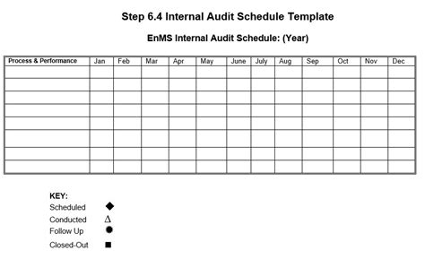 audit follow up template 8 free sle audit schedule templates printable sles
