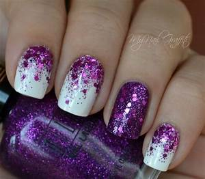 Purple nail art ideas jewe