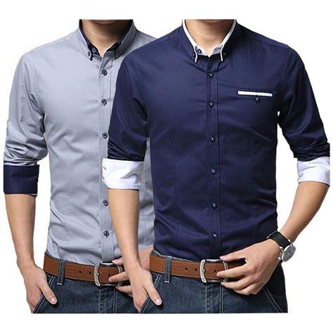 baju kemeja pria slim fit lengan panjang shirt