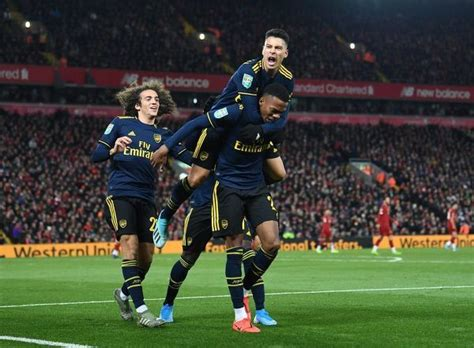 Liverpool FC v Arsenal FC Carabao Cup Round of 16 #19605532