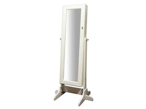 miroir de chambre sur pied miroir coffre à bijoux h 145 cm coloris blanc
