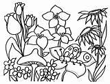 Coloring Flowers Flower Printable Floral Printables Printing Adult sketch template