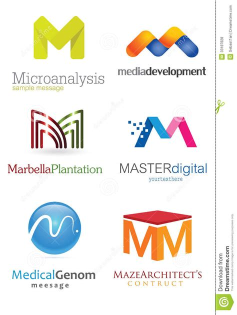 letter m logo stock vector image of computers crafts 33187828