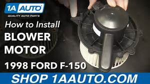How To Install Heater Blower Motor 1997