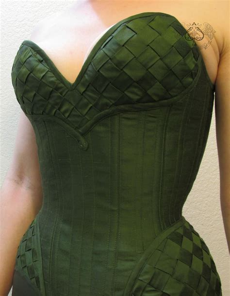 Lady Loki Corset The Corset Is Made From Olive Silk